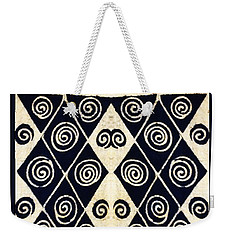 African Tribal Textile Design Weekender Tote Bag