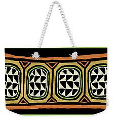 Weekender Tote Bag featuring the digital art African Tribal Textile by Vagabond Folk Art - Virginia Vivier