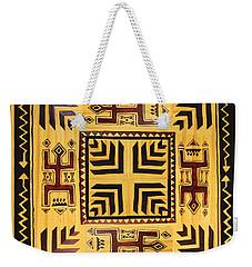 Weekender Tote Bag featuring the digital art African Tribal Spirits by Vagabond Folk Art - Virginia Vivier