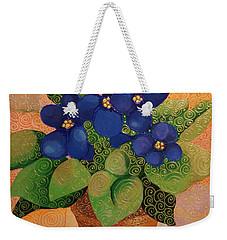 African Violets Weekender Tote Bag