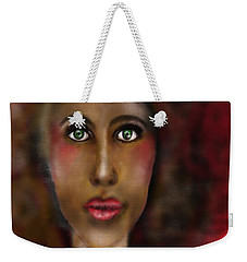 Weekender Tote Bag featuring the digital art Afro Lady by Sladjana Lazarevic
