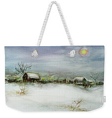 After A Heavy Fall Of Snow Weekender Tote Bag by Xueling Zou
