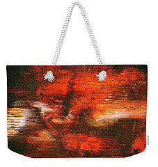 After Midnight - Black Orange And White Contemporary Abstract Art Weekender Tote Bag