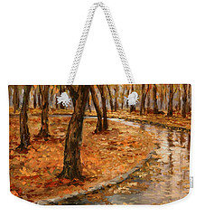 After Rain,walk In The Central Park Weekender Tote Bag