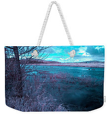 Weekender Tote Bag featuring the photograph After Storm Surrealism by Chriss Pagani