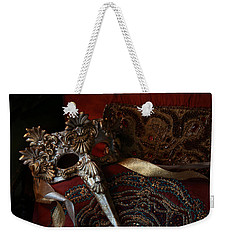 After The Ball - Venetian Mask Weekender Tote Bag by Yvonne Wright