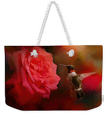 After The Big Rose Weekender Tote Bag