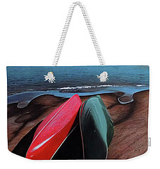 Weekender Tote Bag featuring the painting After The Crossing by Kenneth M Kirsch