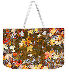 Weekender Tote Bag featuring the photograph After The Fall by Mariarosa Rockefeller