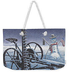 After The Harvest Snowman Weekender Tote Bag by John Stephens