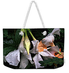After The Rain - Flower Photography Weekender Tote Bag