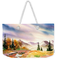 Weekender Tote Bag featuring the painting After The Rain by Teresa Ascone