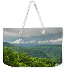 Weekender Tote Bag featuring the photograph After The Rain - The Bluestone Gorge At Pipestem State Park by Kerri Farley