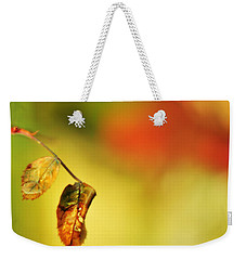 Weekender Tote Bag featuring the photograph After The Shower by Rebecca Sherman