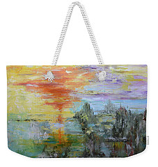Weekender Tote Bag featuring the painting After The Storm by Sandra Nardone