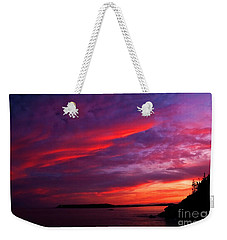 Weekender Tote Bag featuring the photograph After The Storm Sunset by Alana Ranney