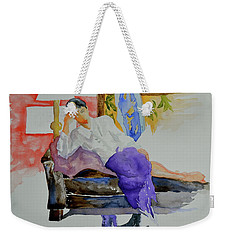 Weekender Tote Bag featuring the painting After Work by Beverley Harper Tinsley