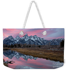 Weekender Tote Bag featuring the photograph Afterglow  by Aaron Whittemore