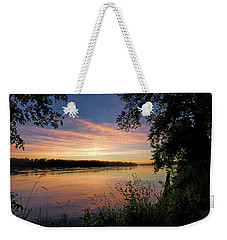 Weekender Tote Bag featuring the photograph Afterglow by Cricket Hackmann
