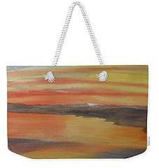 Weekender Tote Bag featuring the painting Afterglow by Joel Deutsch