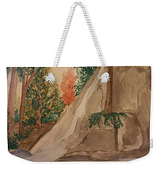 Weekender Tote Bag featuring the painting Afternoon At The Creek by Maria Urso