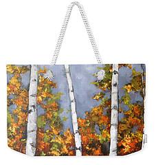Afternoon Birches Weekender Tote Bag