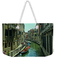 Weekender Tote Bag featuring the photograph Afternoon In Venice by Anne Kotan