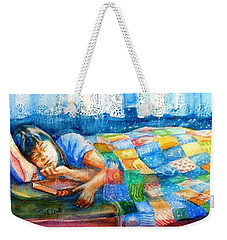 Afternoon Nap Weekender Tote Bag by Trudi Doyle