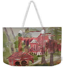 Weekender Tote Bag featuring the painting Afternoon Shadows W403 by Kip DeVore