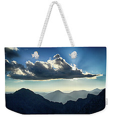 Weekender Tote Bag featuring the photograph Afternoon Sunburst by Marie Leslie