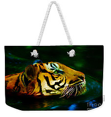 Afternoon Swim - Tiger Weekender Tote Bag
