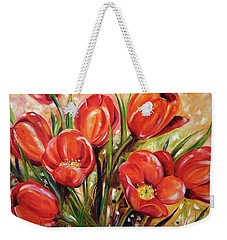 Afternoon Tulips Weekender Tote Bag