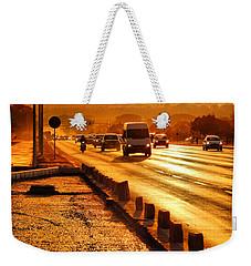 Against The Road Weekender Tote Bag