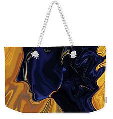 Weekender Tote Bag featuring the digital art Against The Wind by Rabi Khan