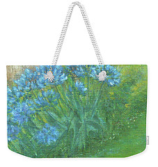 Weekender Tote Bag featuring the painting Agapanthus by Jane See