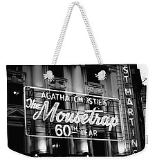 Agatha Christie's The Mouse Trap 60th Anniversary Weekender Tote Bag by Helga Novelli