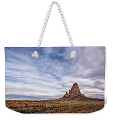 Weekender Tote Bag featuring the photograph Agathla Wakes Up by Jon Glaser