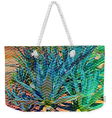 Weekender Tote Bag featuring the mixed media Agave by Michelle Dallocchio
