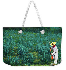 Weekender Tote Bag featuring the photograph Agave Worker by John Kolenberg