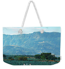 Weekender Tote Bag featuring the photograph Agave Workers by John Kolenberg