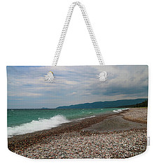 Weekender Tote Bag featuring the photograph Agawa Bay by Rachel Cohen