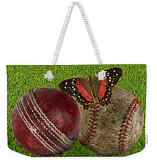 Age Basketball And Cricket Ball Weekender Tote Bag