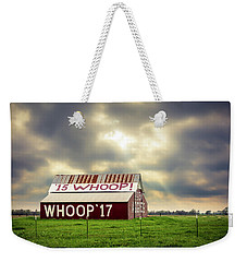 Weekender Tote Bag featuring the photograph Aggie Barn by David Morefield