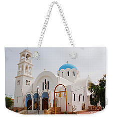 Agioi Anargyroi Church On Agistri Weekender Tote Bag
