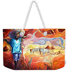 Agoi - The Sheperd Boy Weekender Tote Bag by Bankole Abe