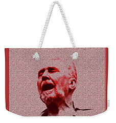 Weekender Tote Bag featuring the digital art Agony by Asok Mukhopadhyay