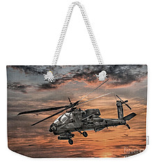 Ah-64 Apache Attack Helicopter Weekender Tote Bag by Randy Steele