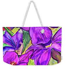 Ah, Iris Weekender Tote Bag