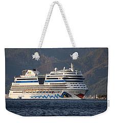 Aida Stella Cruise Ship Leaving Marmaris Weekender Tote Bag