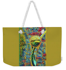 Weekender Tote Bag featuring the mixed media Ailen Garden   by Bruce Carpenter